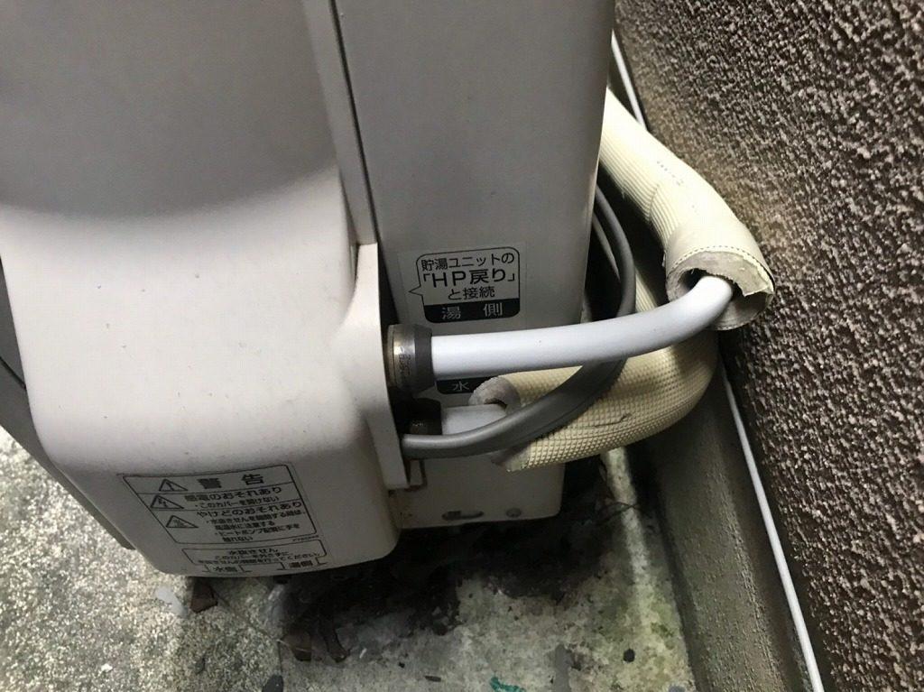 ヒートポンプ配管が水漏れする可能性