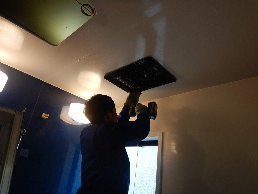 暖房機を取付