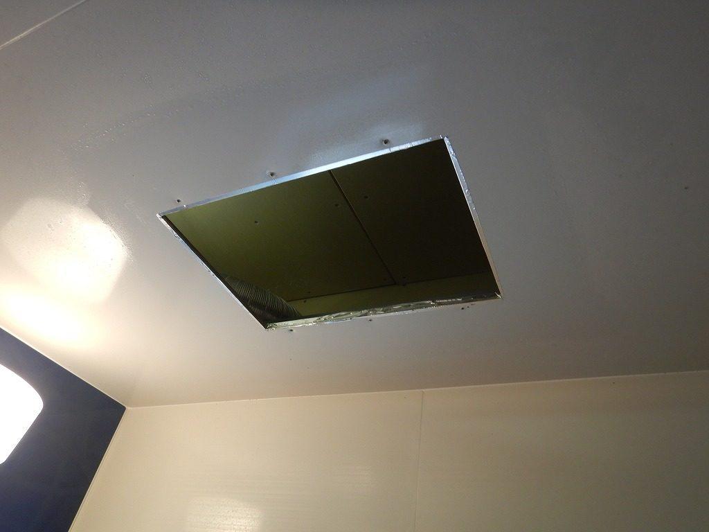 浴室乾燥暖房を取り外した状態
