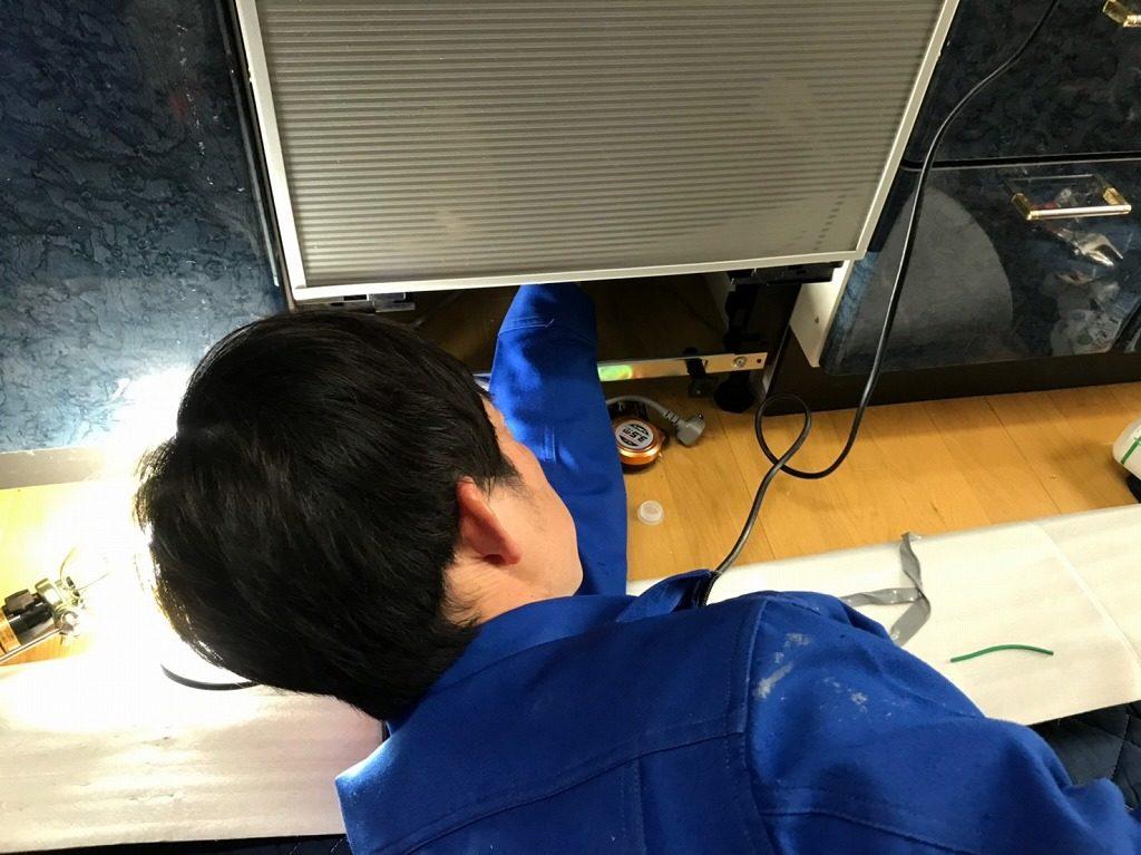 食洗機の配管の接続