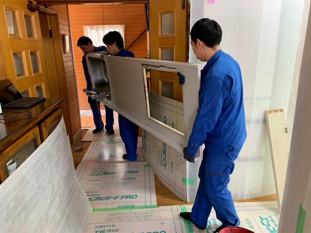 キッチン天板の解体