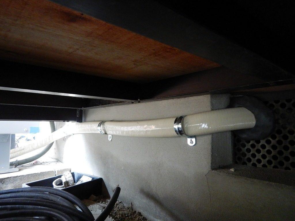 フルオート用の配管を新設
