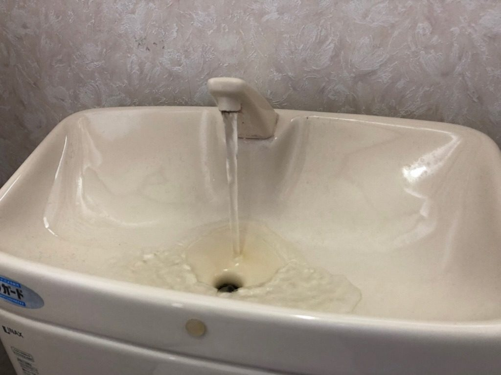 手洗いの水の出がよくなった