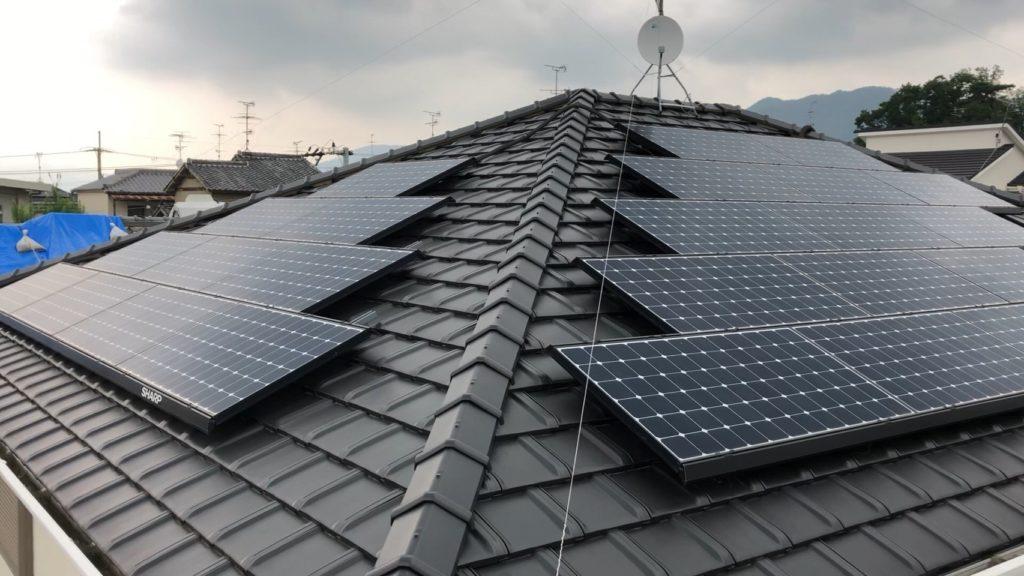 8.57KW 太陽光発電パネル
