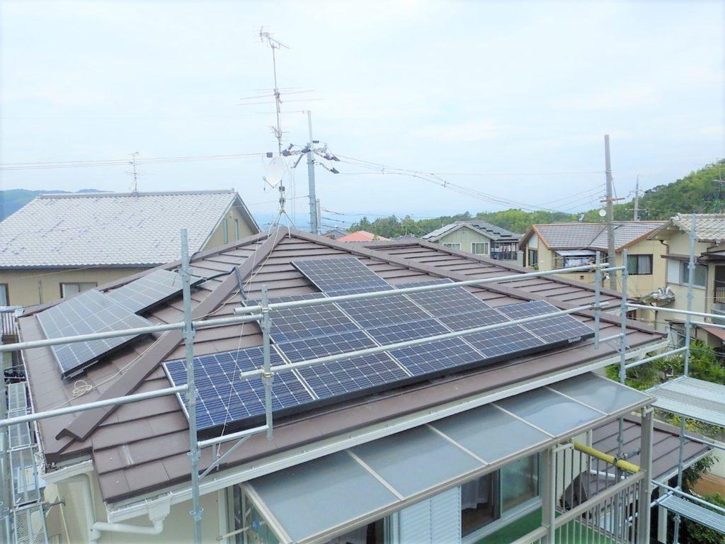 シャープ太陽光発電2面設置