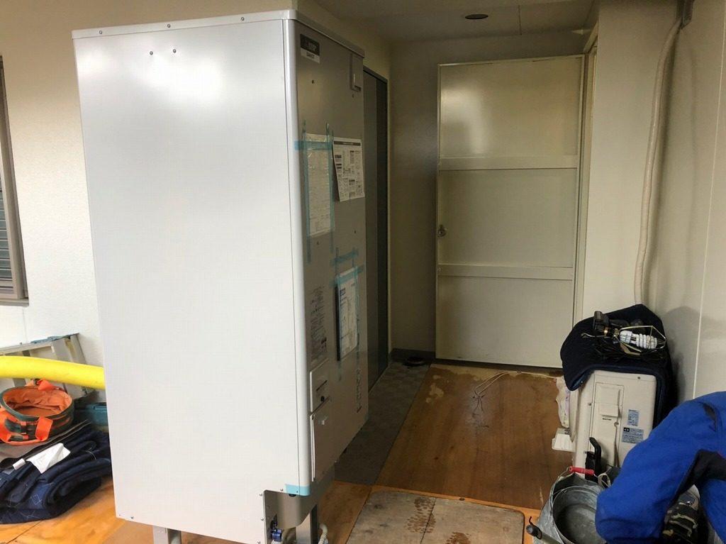 三菱の電気温水器に交換