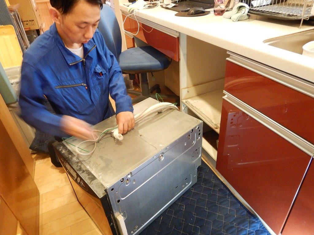 食器洗い乾燥機を取り外す