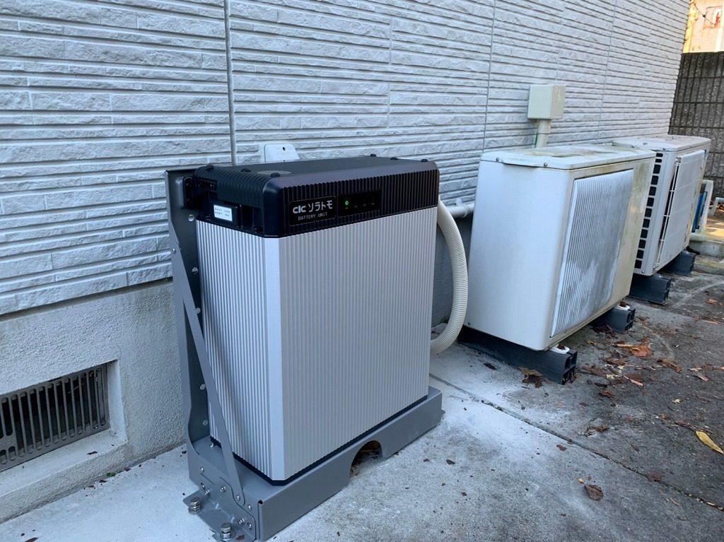 長州産業屋外用9.8kWh蓄電池