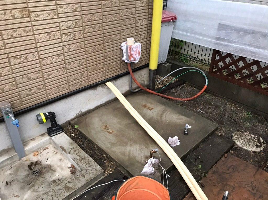 フルオート用配管の新設