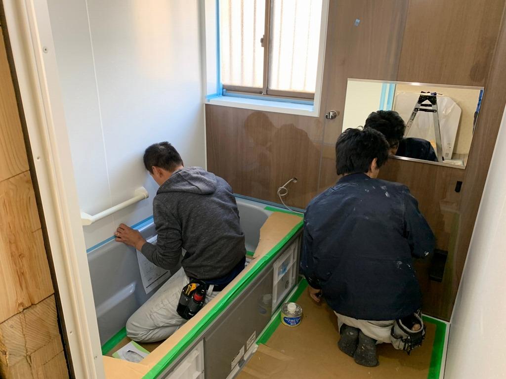 クリナップのお風呂の施工