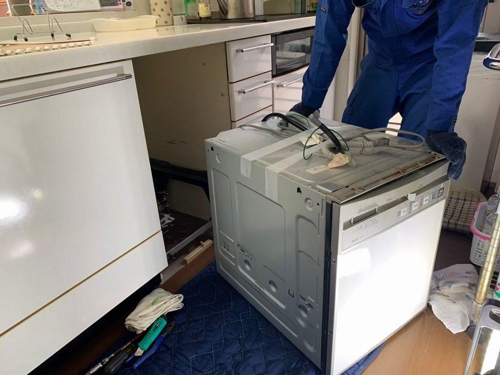 食洗機を取り外す