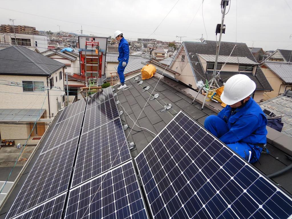 太陽光パネルの取付