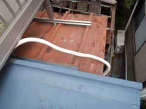 エアコン配管のテープ巻き