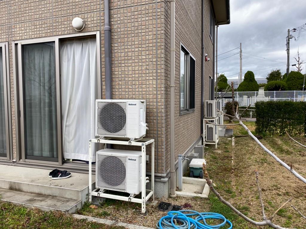 故障したエアコンの交換