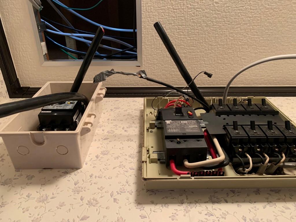 蓄電池の電気配線