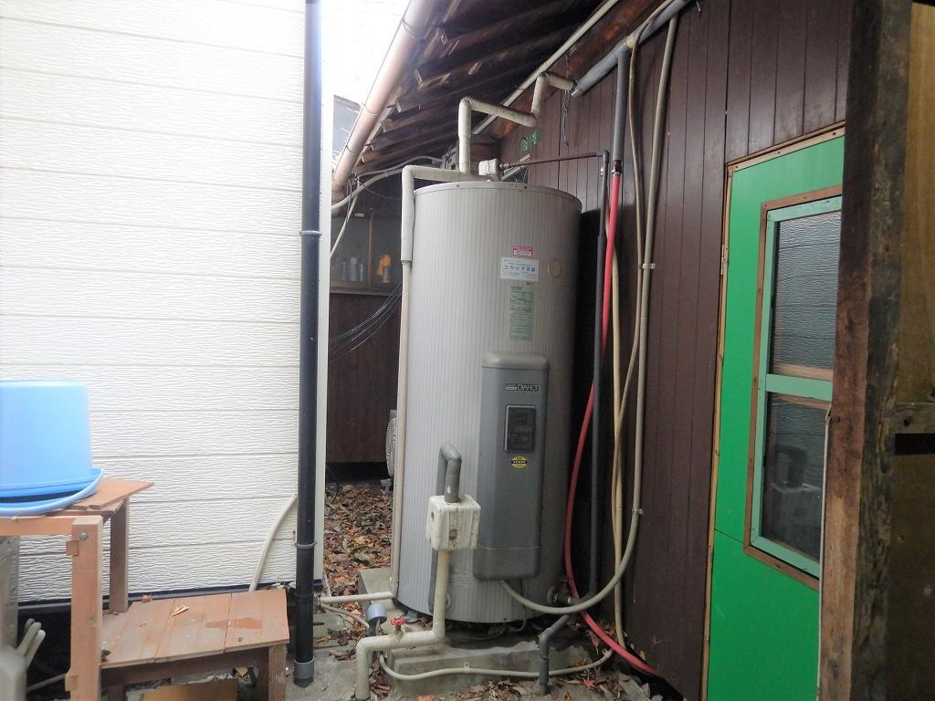 丸缶温水器の故障