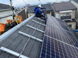 太陽光パネルを設置