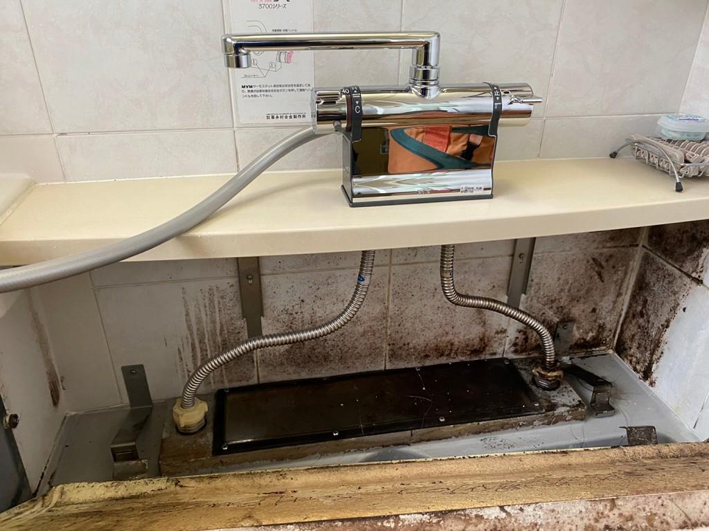 シャワー混合栓の取替工事