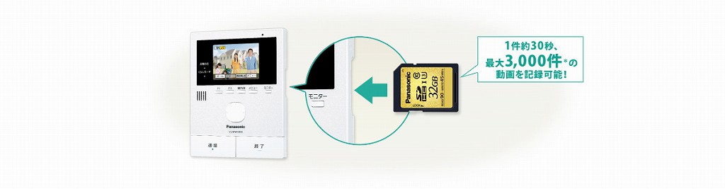 SDカードで動画も保存