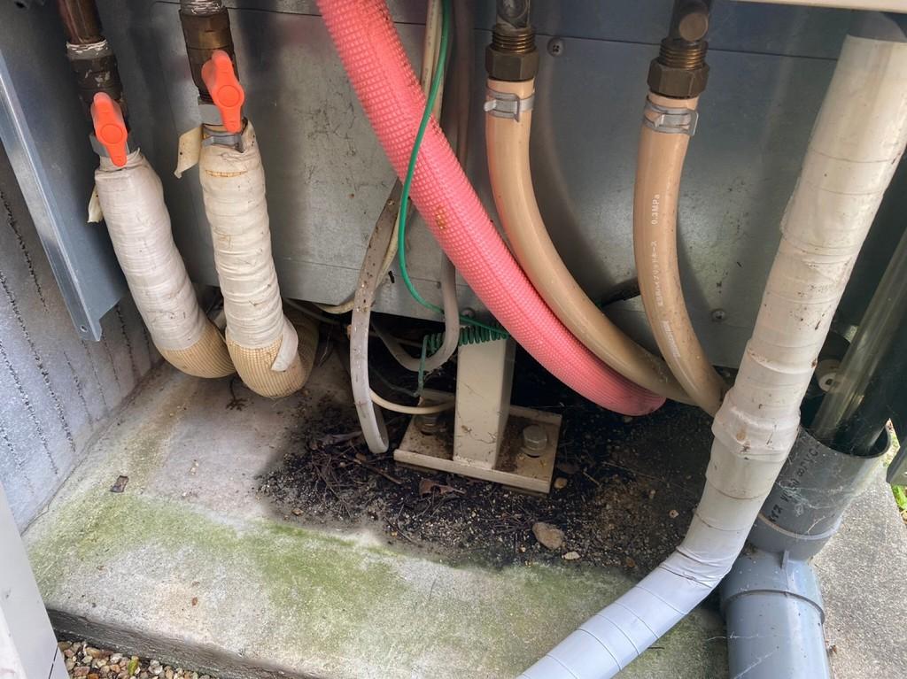 放熱ロスのある配管仕上げ