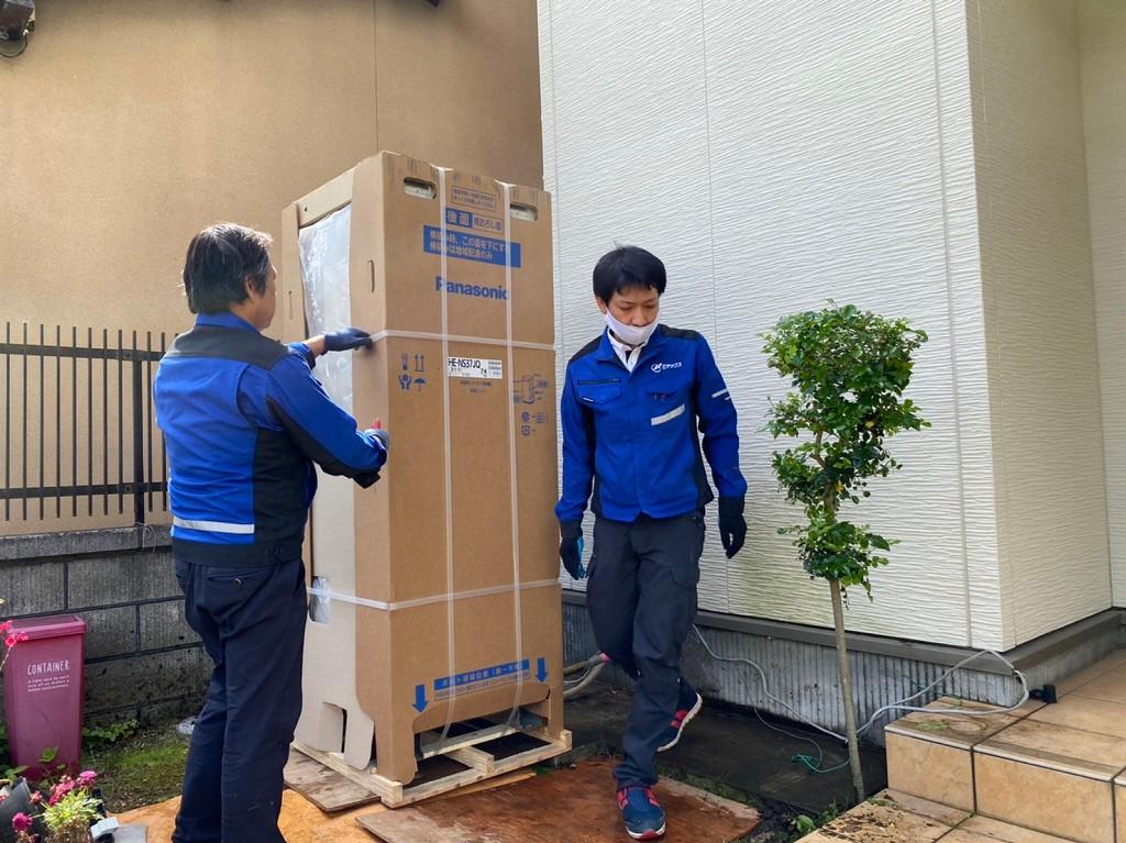 梱包のまま運搬