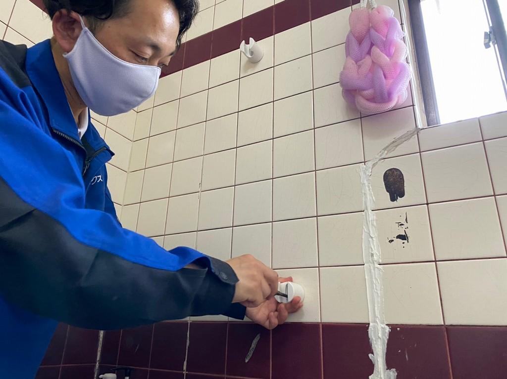 シャワーフックの交換