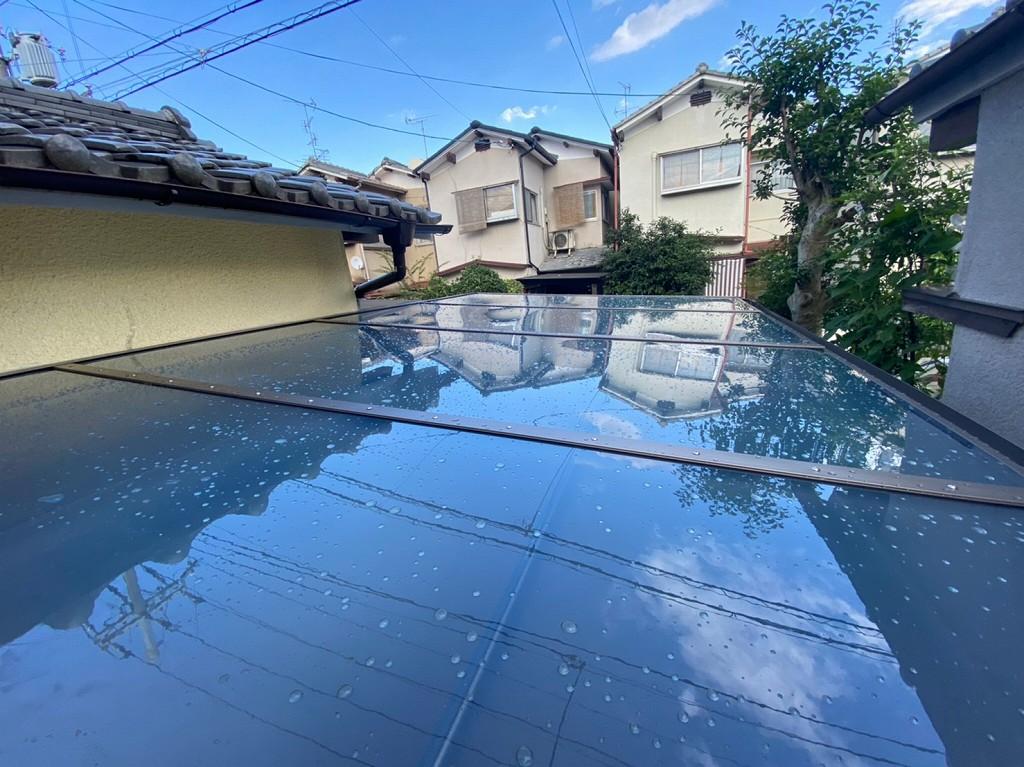 駐輪場に屋根