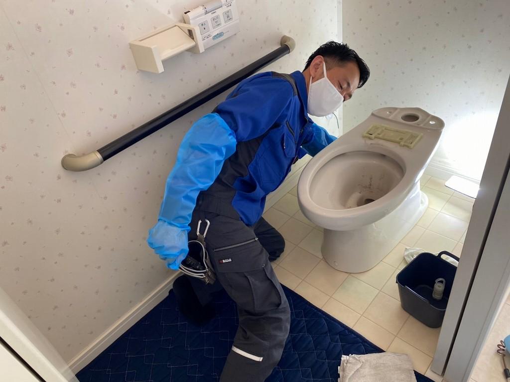 トイレの取り外し工事