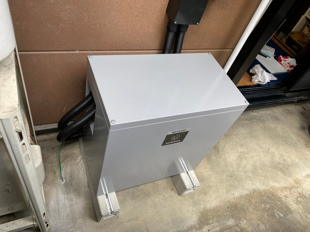 蓄電池の配線