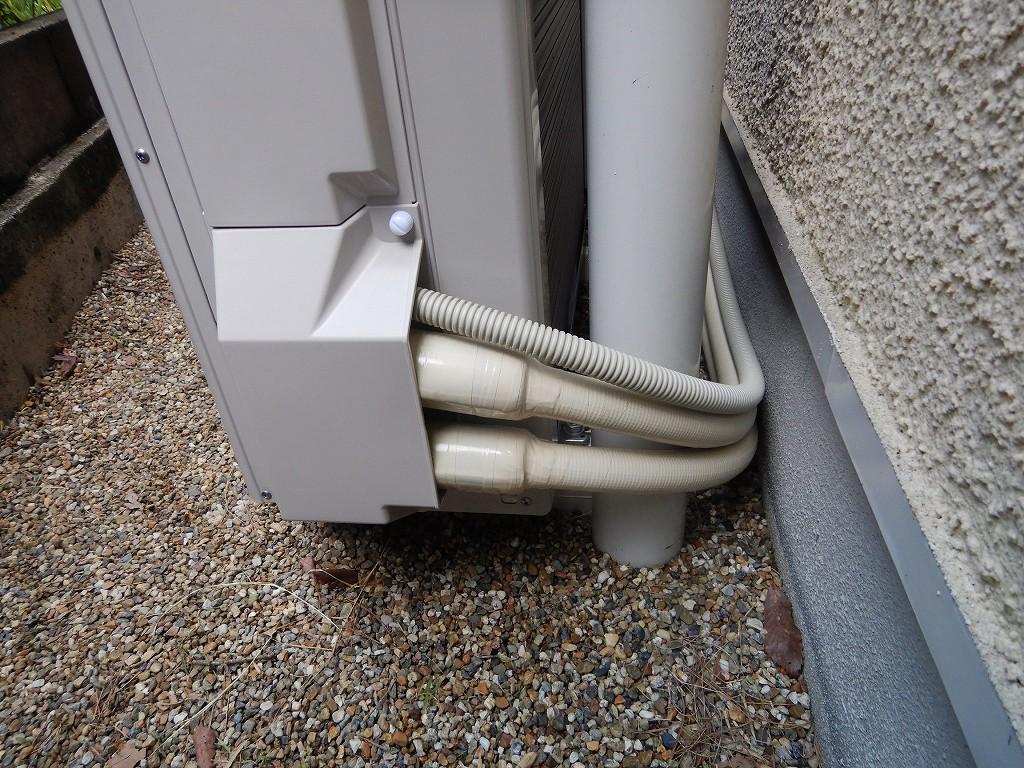 ヒートポンプ配管の保温工事