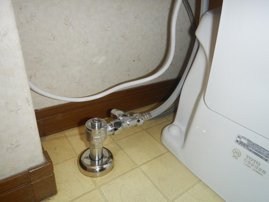 止水栓も交換