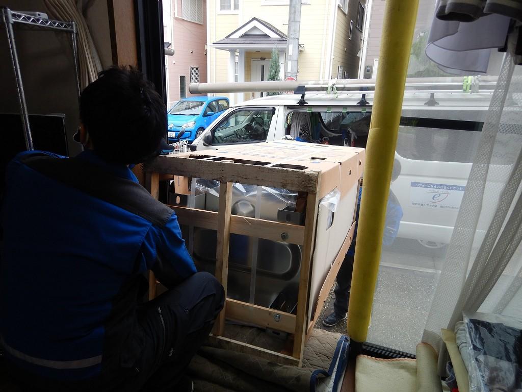 エコキュートを運搬