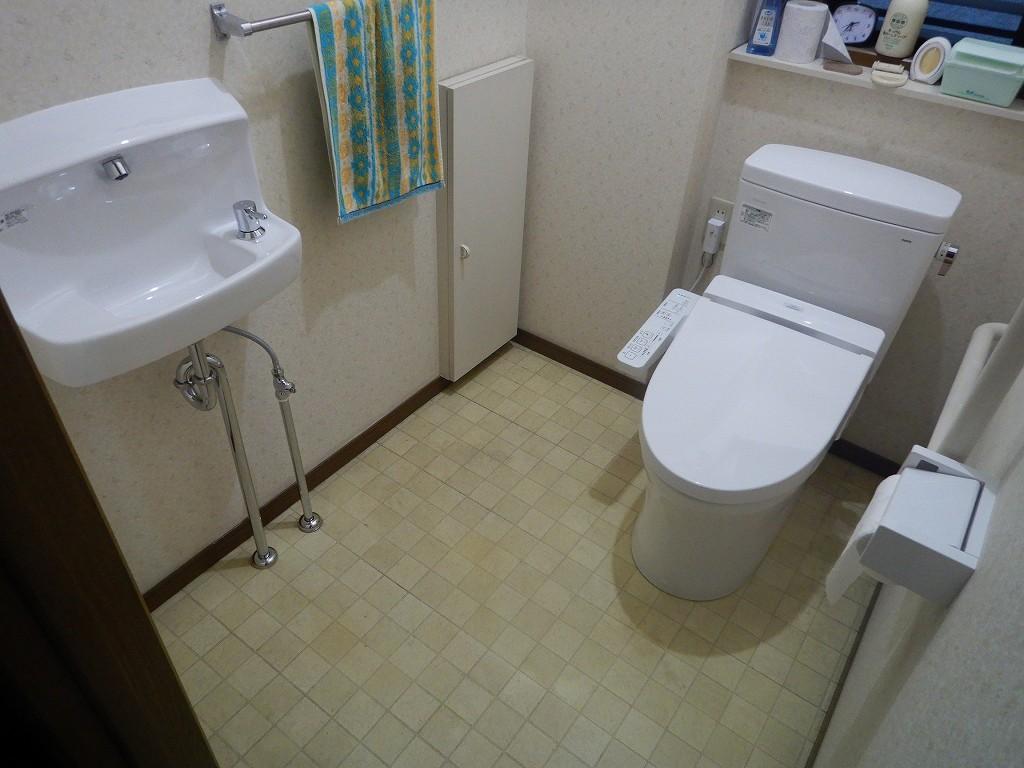 白いトイレに