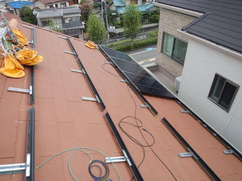 太陽光パネルを設置した状態