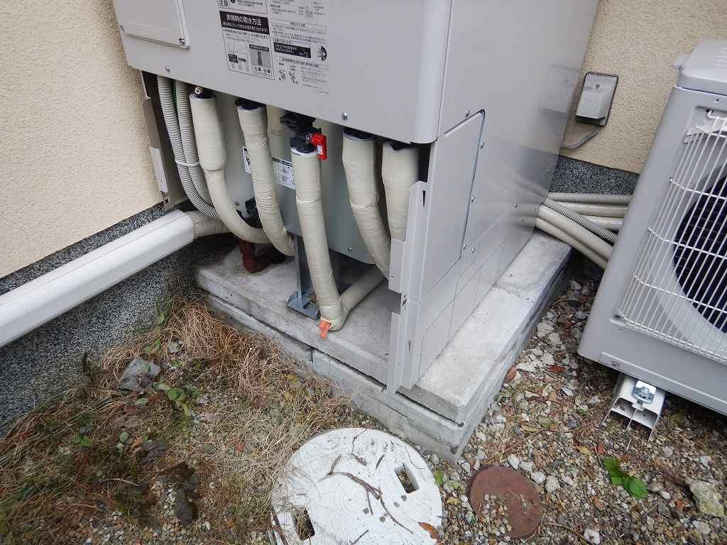 配管は全て断熱保護