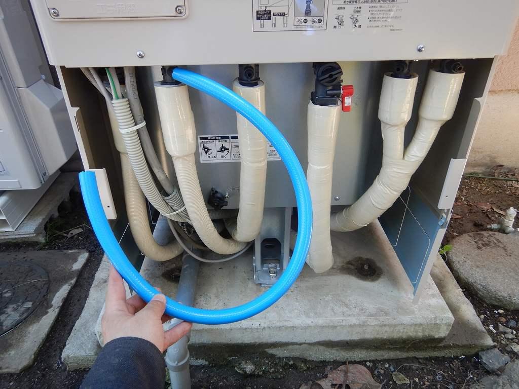 非常用取水栓に使うためのホース