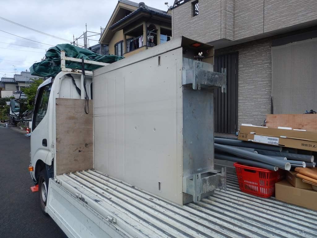 薄型電気温水器の撤去工事