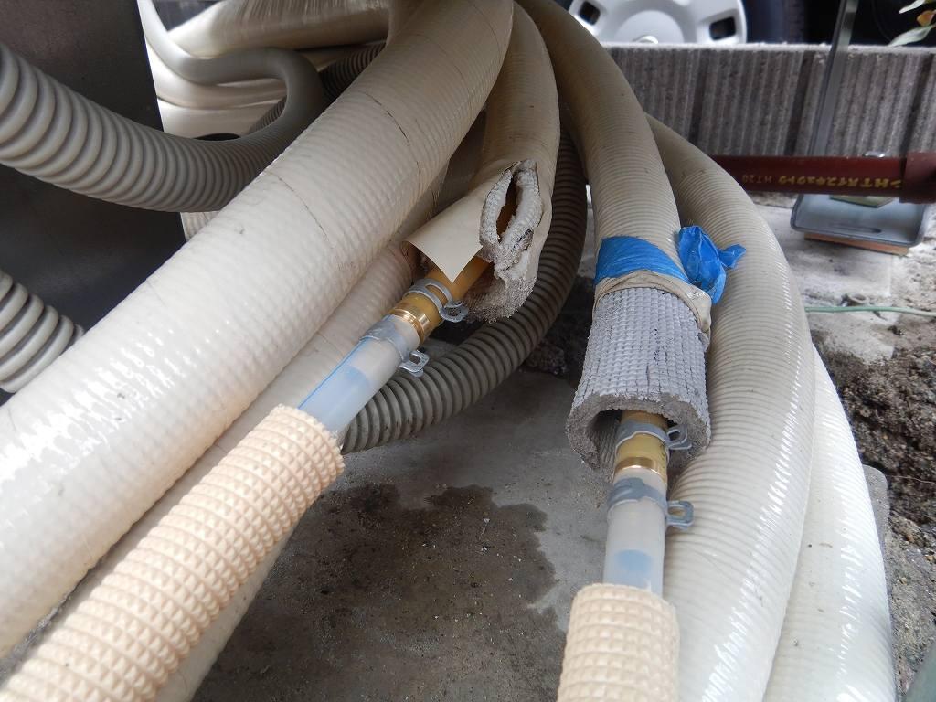床暖房の配管を延長