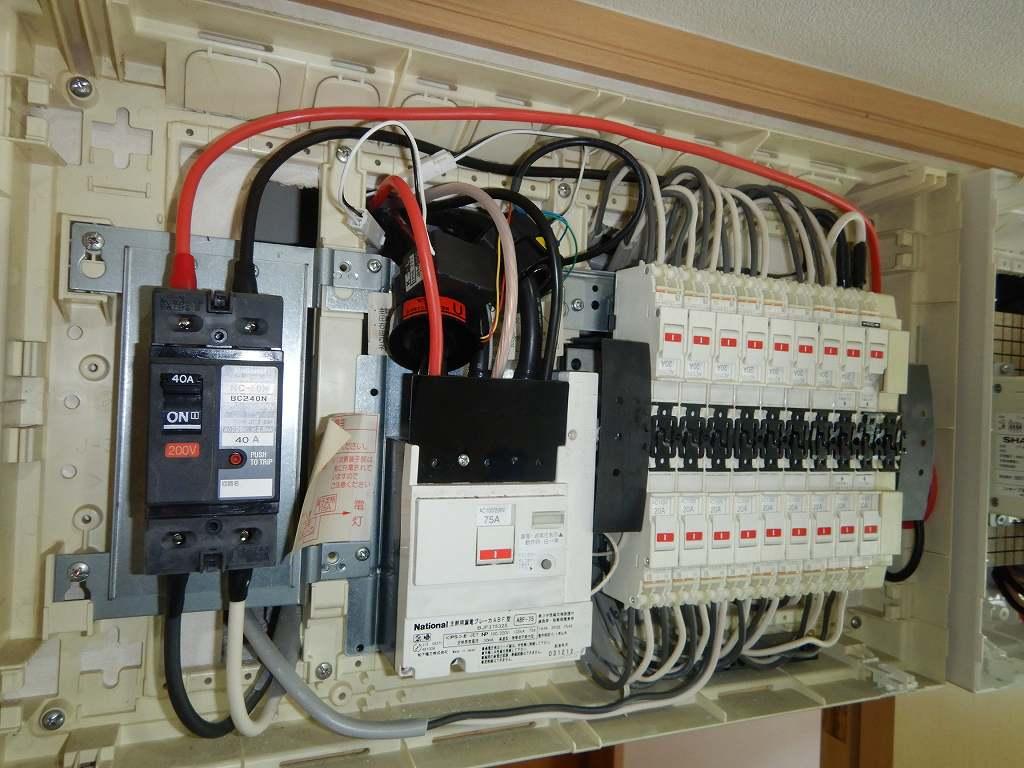 蓄電池の配線工事