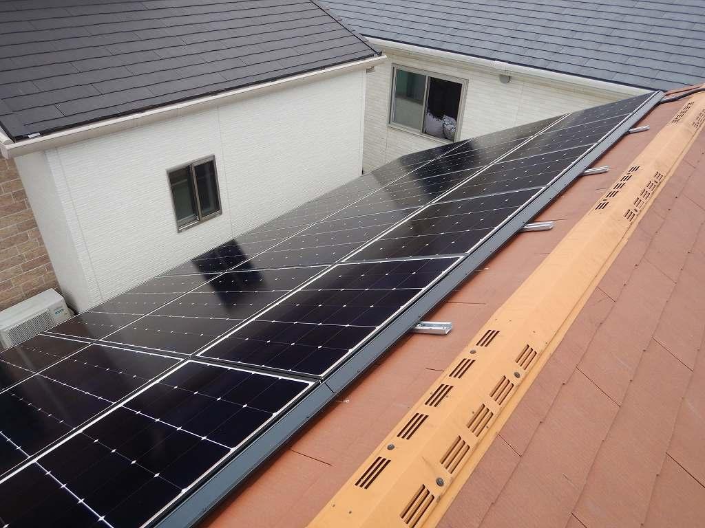 シャープ太陽光発電システム設置工事