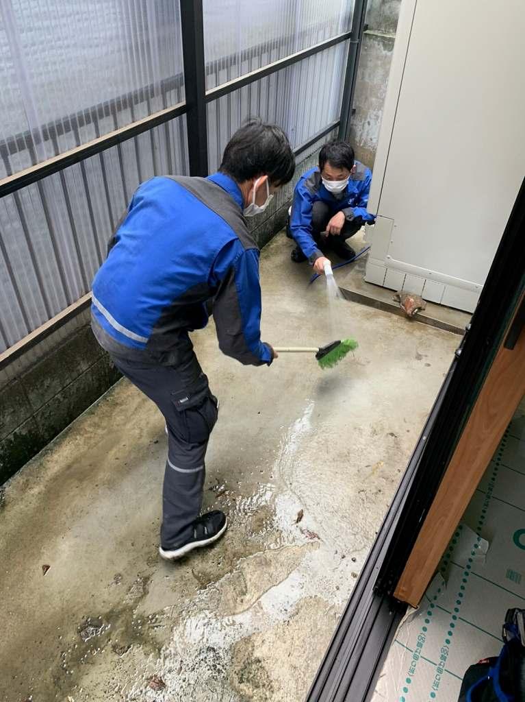 工事後の清掃