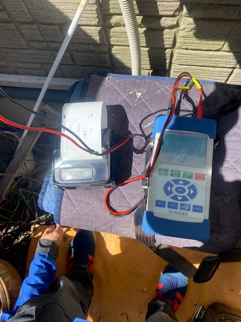 太陽光発電の断線チェック検査