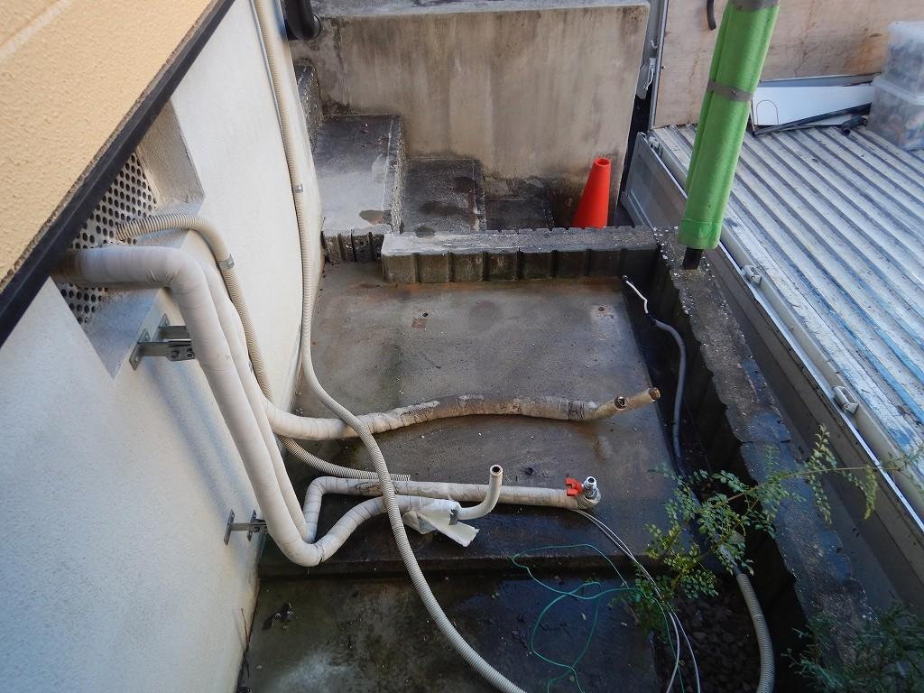 電気温水器を撤去した状態