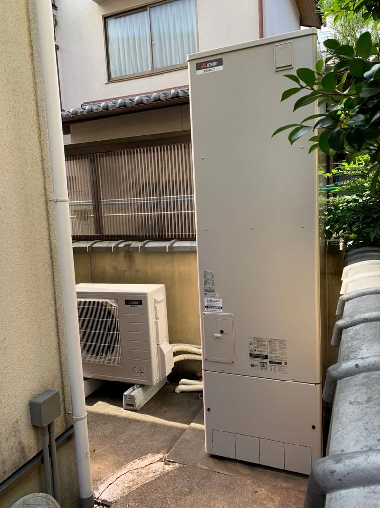 電気温水器から三菱エコキュートへ取替
